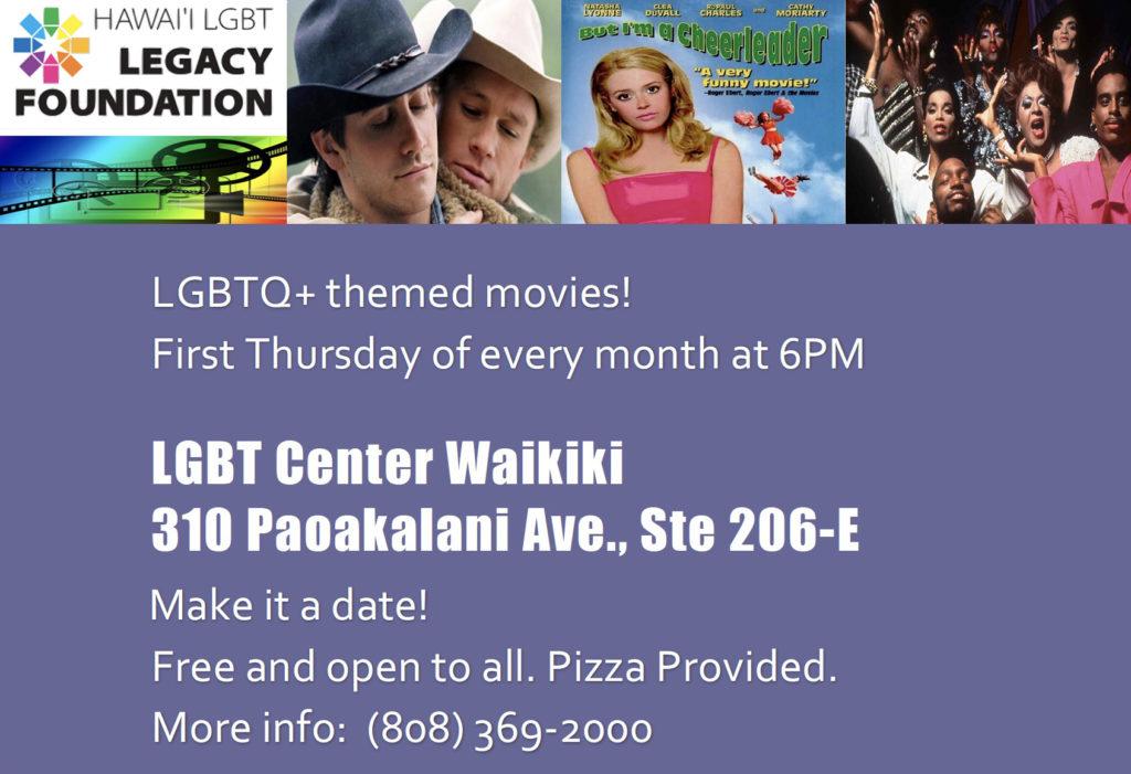 LGBTQ Movie Night Hawaii LGBT Center-Waikiki