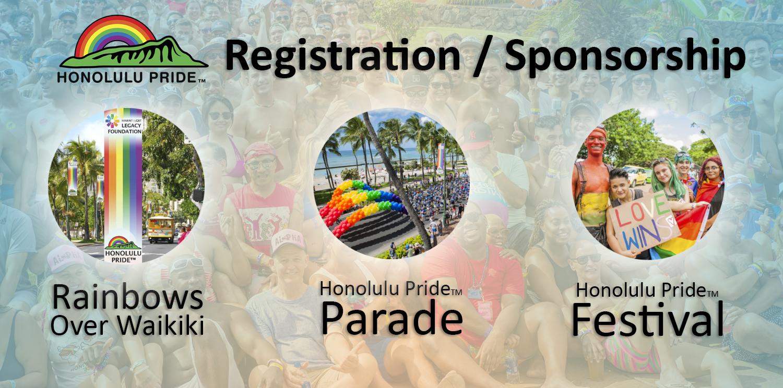 2018 Honolulu Pride Registration and Sponsorship