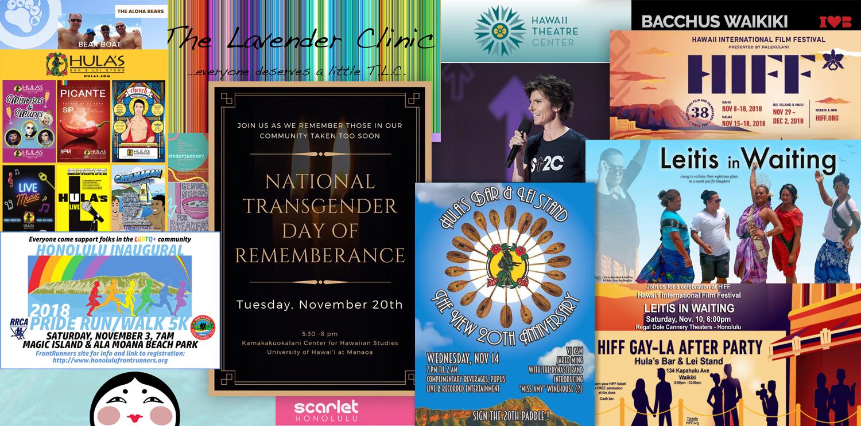 Honolulu Gay Lesbian Bisexual Transgender Queer Events Calandar
