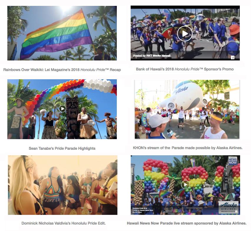 Honolulu Pride 2018 videos