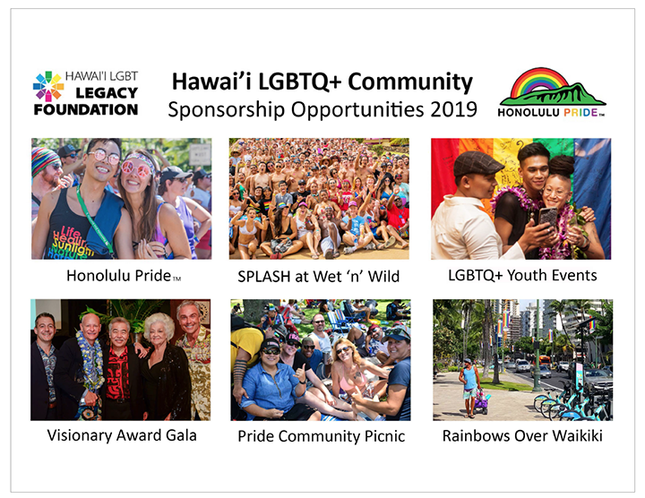 Honolulu Pride and Hawaii LGBT Legacy Foundation Sponsorship Opportunities 2019